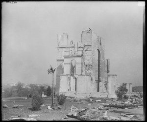 Photo courtesy of State Records NSW - Garden Palace ruins after fire, taken from Garden Palace Grounds