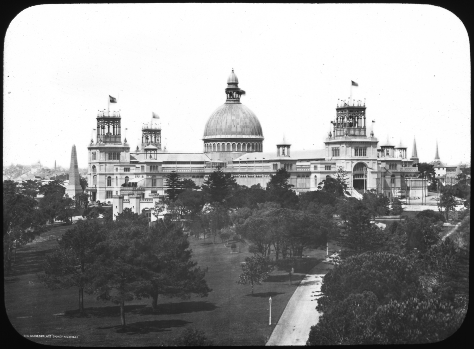 Photo courtesy of State Records NSW - Built in only eight months to house the Sydney International Exhibition which opened 17 September 1879. It burnt down on September 22 1882. [NRS 4481 No. 2920, Reel 2718]