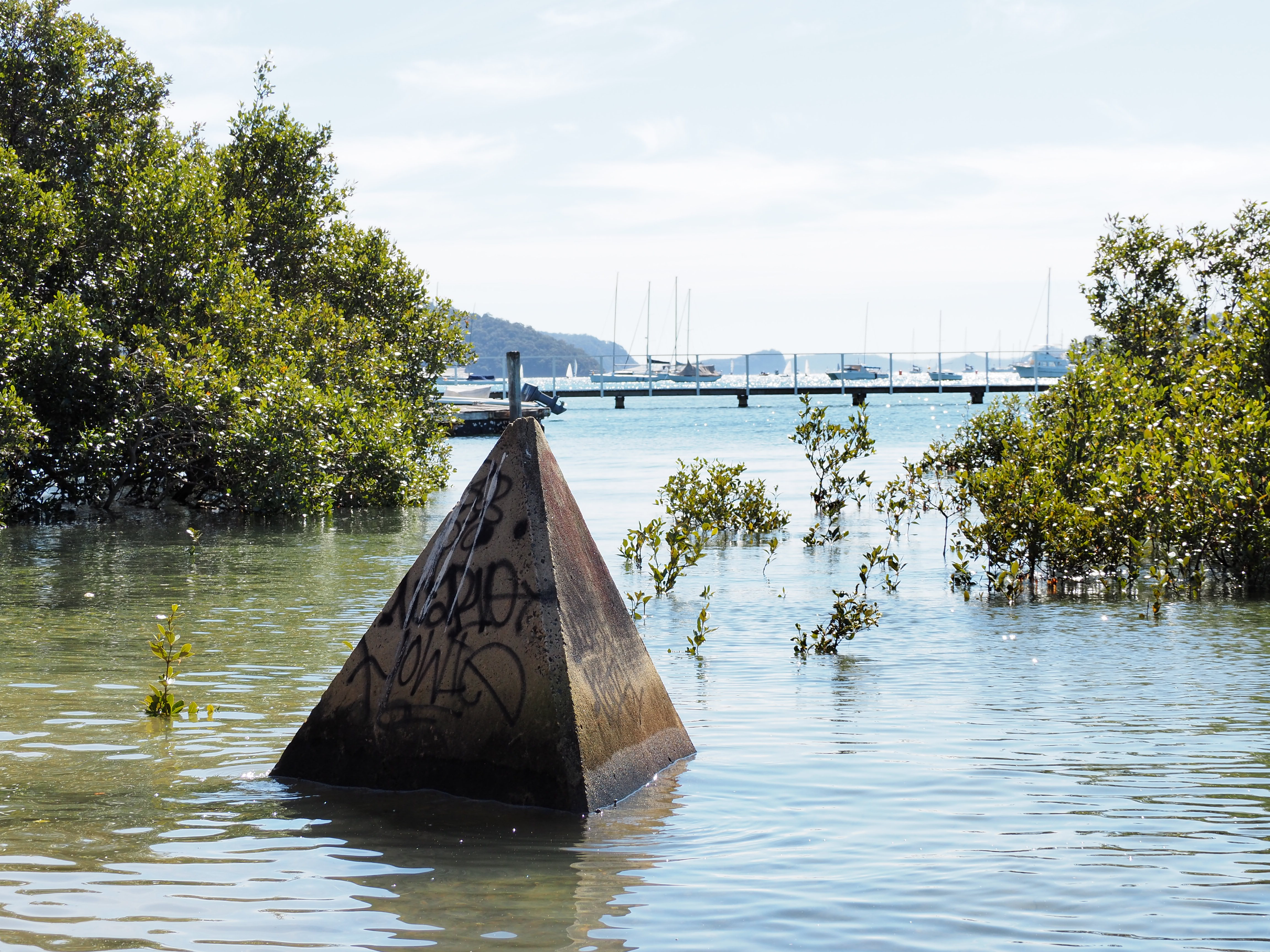 Tank Trap on Pittwater at Bayview