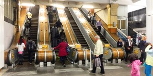 The Wooden Escalators at Wynyard Station