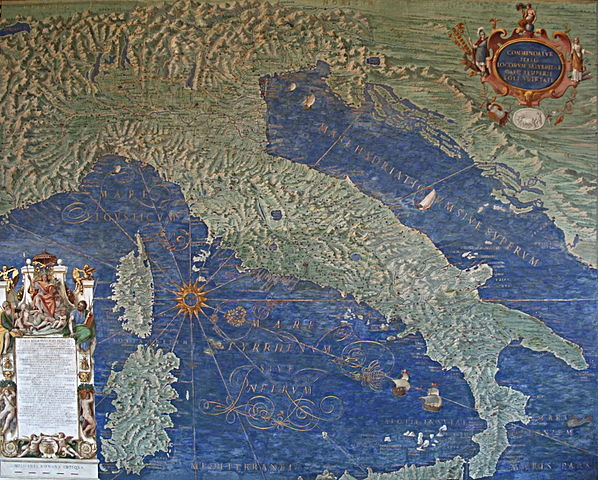 Map of Italy, Corsica and Sardinia – The Gallery of Maps – Vatican Museums.