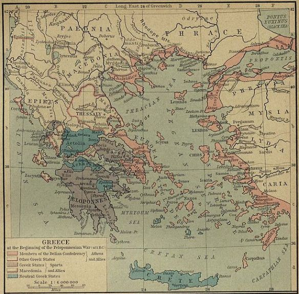 Greee at the beginning of the Pelopennesian War