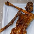Ötzi, a human who lived around 3300 BC, had at least 61 tattoo markings on his body when he died and his body was frozen in a glazier along the Italian-Austrian border.