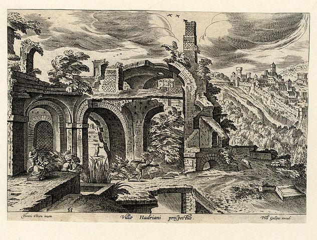 16th century view of Hadrian's villa