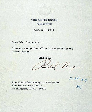 The History Place - Great Speeches Collection Gerald R Ford Speech - nixon resignation letter