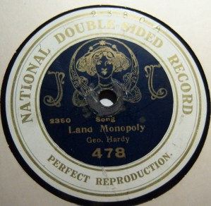 And to hear the 'B' side of George Hard's 78rpm disc, clip on the link below: