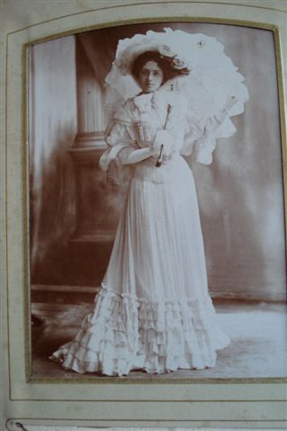 Kate toured in J.M. Barrie's Quality Street and was photographed, in costume, in a Dublin studio in October 1903
