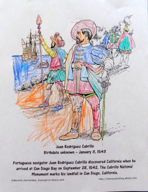 Cabrillo coloring page