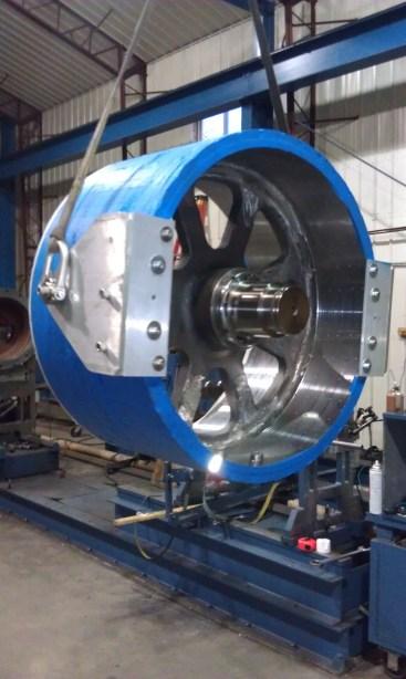Large Permanent Magnet Motor Generator Rotor Hi Tek