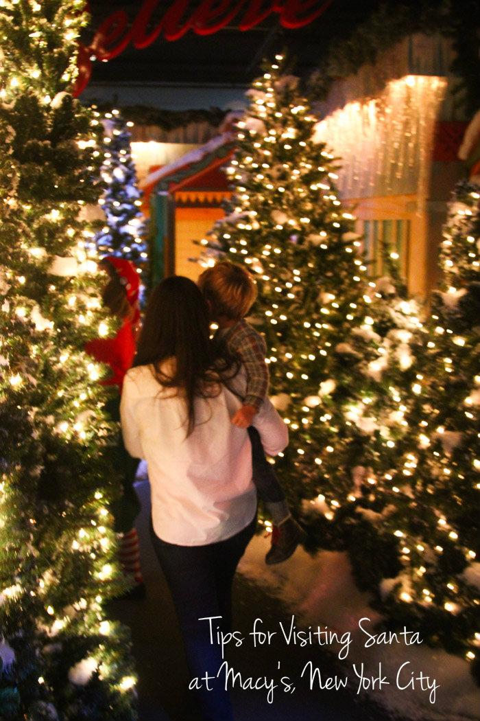 new york family  Visiting Santa at Macys 34th Street