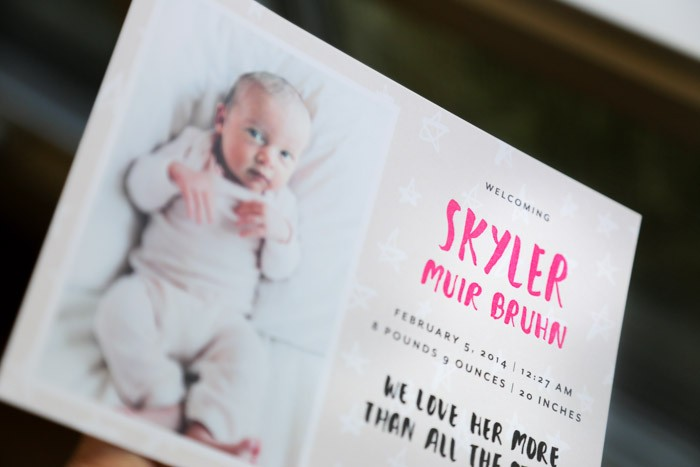 family design  Our Birth Announcements