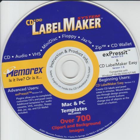 ExPressIt 5 PC CD create custom cases templates discs clip art