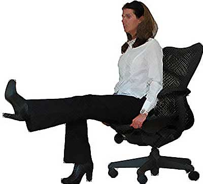 5 Great Exercises To Do In Your Chair While At Work - office exercise