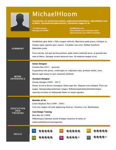 49 Creative Resume Templates Unique Non-Traditional Designs - Designing A Resume