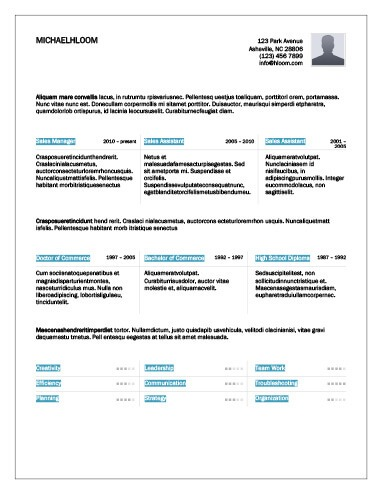three column resume template - download how to format a resume in - columnist resume 2