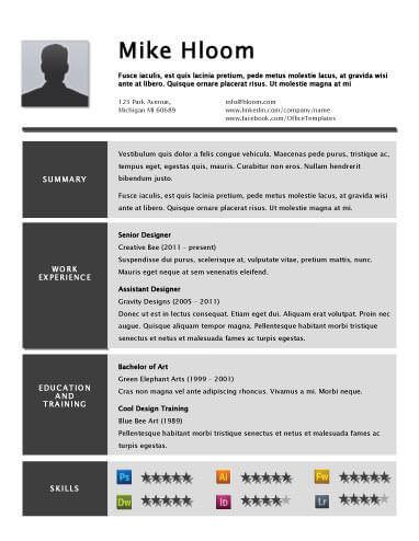 49 Creative Resume Templates Unique Non-Traditional Designs