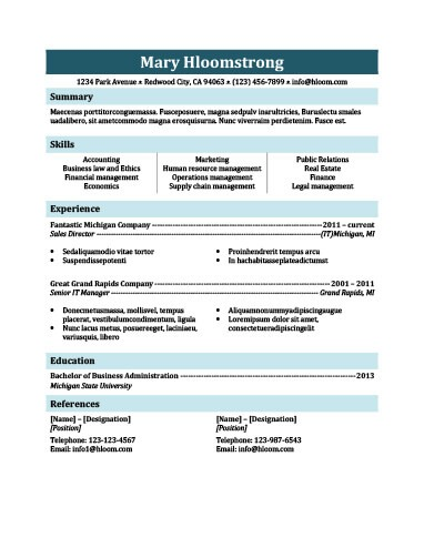 Simple Resume Templates 75 Examples - Free Download - legal resume format