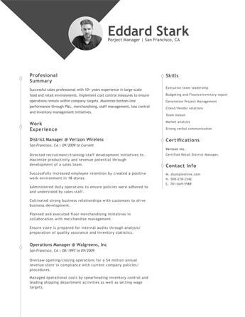 Resume Examples \u2022 Hloom