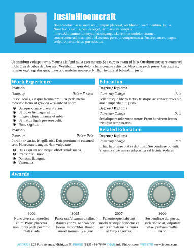 49 Creative Resume Templates Unique Non-Traditional Designs - Winning Resume Sample