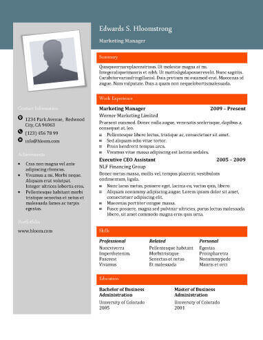 22 Contemporary Resume Templates Free Download - contemporary flyer
