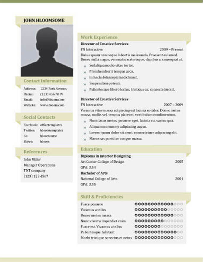 49 Creative Resume Templates Unique Non-Traditional Designs - Resume With Photo Template