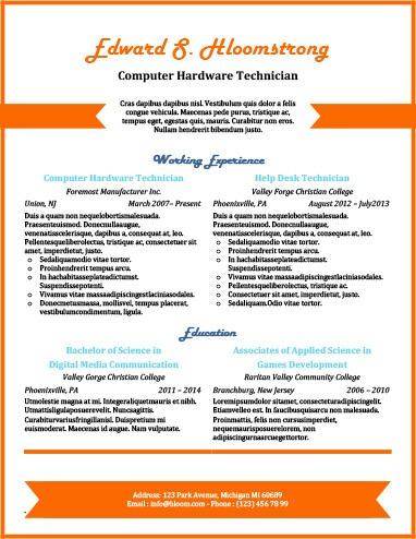 49 Creative Resume Templates Unique Non-Traditional Designs - interesting resume formats