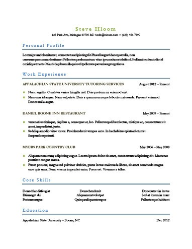 Simple Resume Templates 75 Examples - Free Download - images of resumes