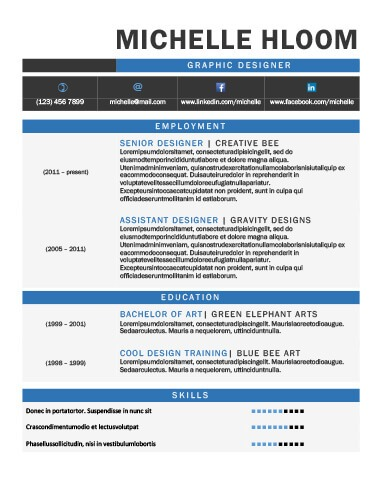 49 Creative Resume Templates Unique Non-Traditional Designs - graphic design resume templates