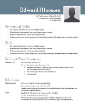 Free Downloadable Resume Templates Hloom Top 10 Best Resume Templates Ever Free For Microsoft Word