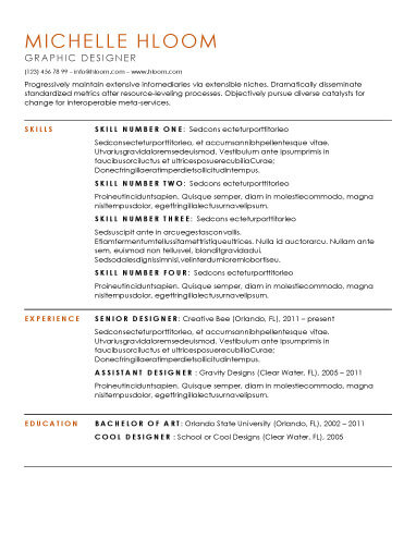 Simple Resume Templates 75 Examples - Free Download - Simple Resumes Templates