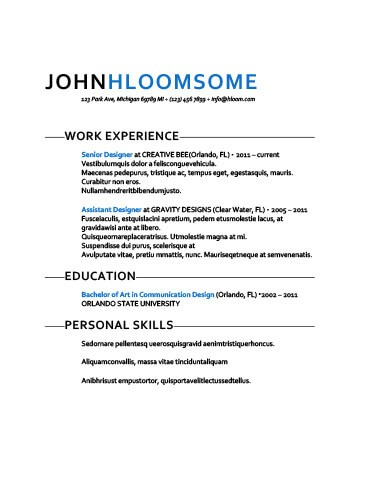 Simple Resume Templates 75 Examples - Free Download - personal skills resume