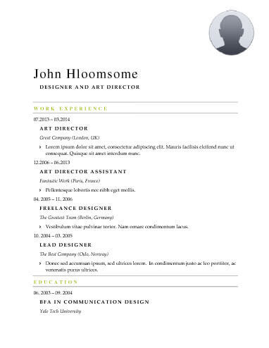 Modern Resume Templates 64 Examples - Free Download - resume header template