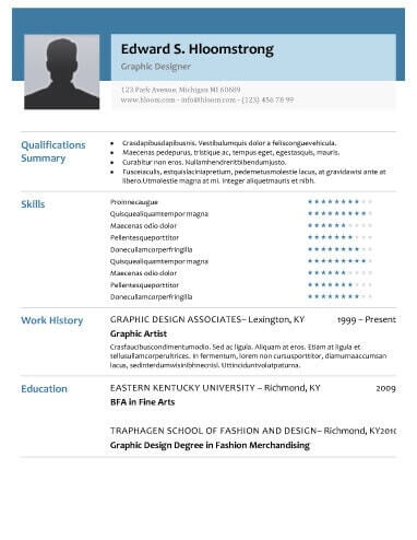 modern high quality resume template - Ozilalmanoof - Resume With Photo Template