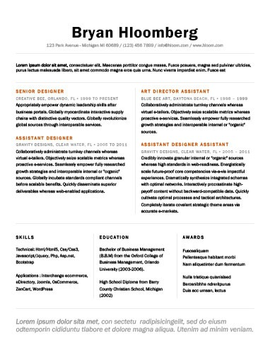 resume heading template - Gottayotti