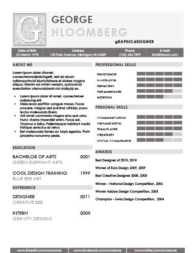 22 Contemporary Resume Templates Free Download - recommended resume font