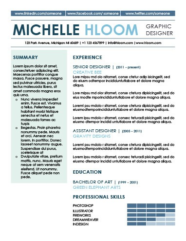 Modern Resume Templates 64 Examples - Free Download