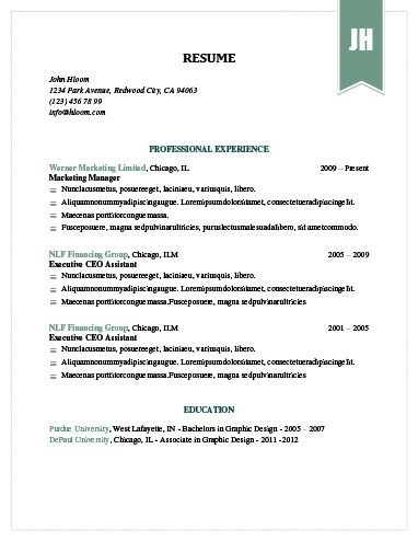 Simple Resume Templates 75 Examples - Free Download - group resume template