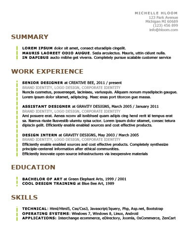 Simple Resume Templates 75 Examples - Free Download - principal architect sample resume