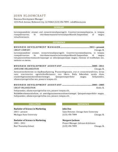 Modern Resume Templates 64 Examples - Free Download - great resume template