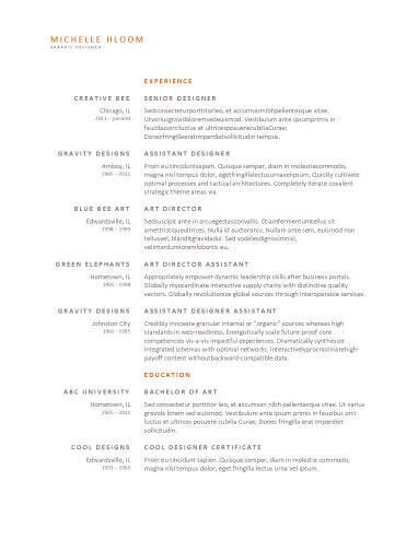 Simple Resume Templates 75 Examples - Free Download - Simple Resume Design