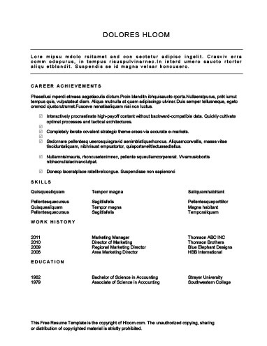 30 Basic Resume Templates - achievements resume