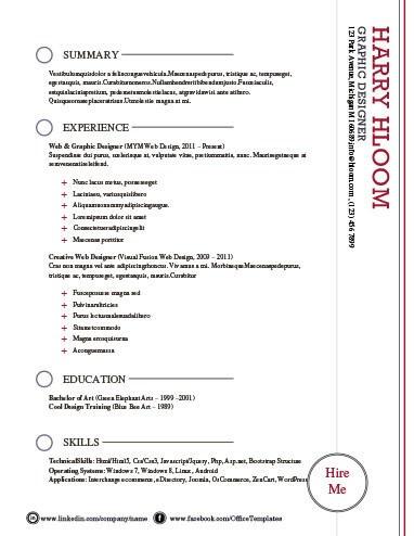 Modern Resume Templates 64 Examples - Free Download - resume me