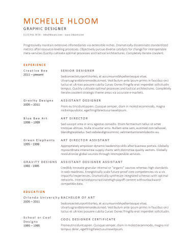 Simple Resume Templates 75 Examples - Free Download - Great Resume Templates For Microsoft Word