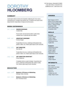Free Resume Template For Microsoft Word Vertex42 Free Resume Templates You'll Want To Have In 2017
