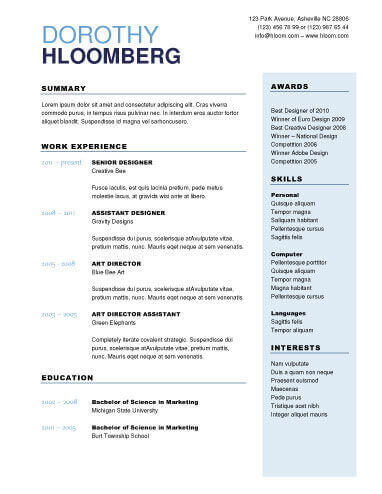 22 Contemporary Resume Templates Free Download - skills resume templates