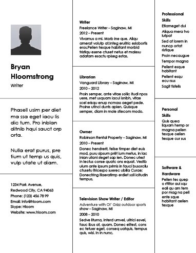Creative Resume Template Creative Free Printable Resume Templates - Unique Resume Designs