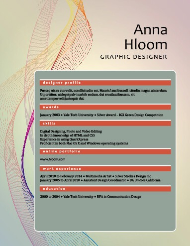 49 Creative Resume Templates Unique Non-Traditional Designs - designer resume template