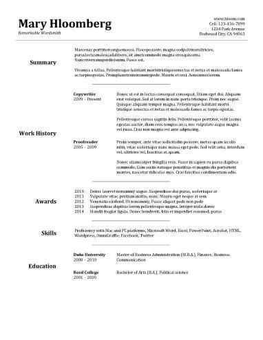 8 Free OpenOffice Resume Templates (OTT Format)