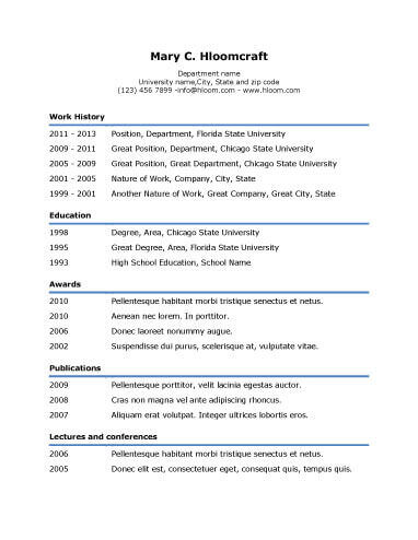Simple Resume Templates 75 Examples - Free Download