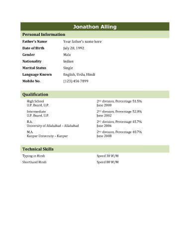 Biodata - What it is + 7 Biodata Resume Templates - bio data latest format